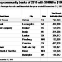 state bank of texas announces 2016 year-end results and ranks #1 in the nation by roaa