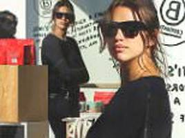 irina shayk pictured two weeks after welcoming daughter