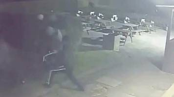 cctv captures man being chased and attacked by gang with machete