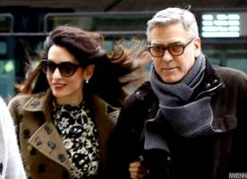 amal 'kicks' george clooney out of the bedroom during her pregnancy