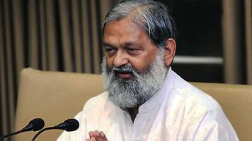 haryana: anil vij suspends 11 officials during surprise inspection
