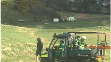 woman in hospital after arthur's seat fall