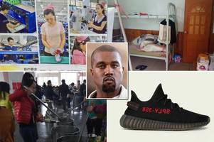 chinese workers making kanye west's £150 yeezy trainers are paid just £147 a month