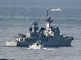 spanish warship chased is out of gibraltar waters again