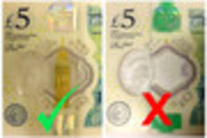 are these new £5 notes 'fake', or have they just been given...