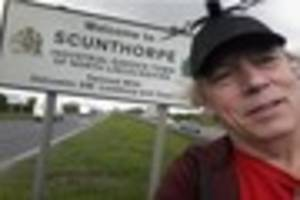 heathrow airport protester makes stop in scunthorpe on his 400...