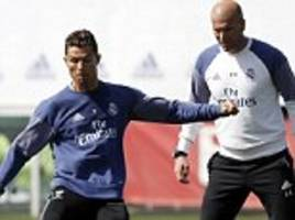 real madrid to rest cristiano ronaldo and gareth bale