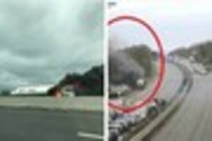 Lorry carrying gas catches fire on M4 causing delays for drivers...