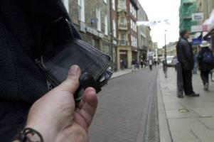 where are the worst places in cambridgeshire for pickpockets?