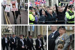 veterans protest in glasgow over legal 'witch-hunt' against soldiers during northern ireland troubles