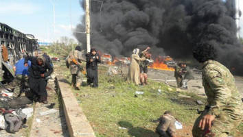 60 Casualties Reported After Blast Hits Evacuee Bus Convoy Near Aleppo