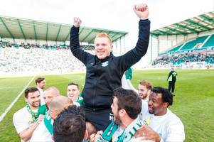 hibs boss neil lennon praises predecessor alan stubbs after title triumph