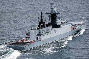 royal navy escorts russian warships 'playing wargames' through english channel amid heightened tensions