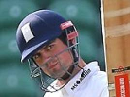 alastair cook hits century for essex