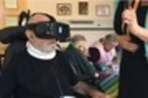 hospice in leicester using virtual reality headsets to help...