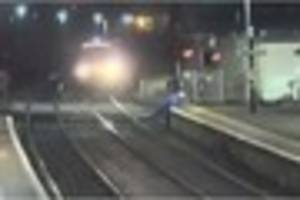 Video: British Transport Police release footage of people...