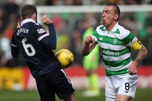 celtic skipper scott brown has been getting away with it all season and ref was spot on to send him packing