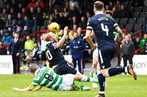 celtic skipper scott brown set to miss scottish cup semi final against rangers after seeing red against ross county