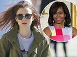 lily collins reveals heartfelt message from michelle obama