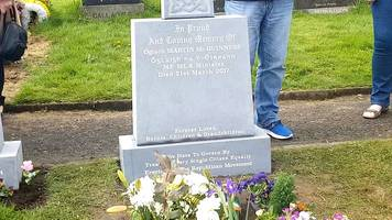 gregory campbell angry over martin mcguinness headstone
