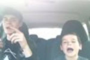 watch this little kid do an adorable 'carpool karaoke' with his...