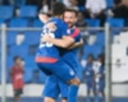 afc cup 2017: bengaluru fc 2-0 abahani limited dhaka - blues strengthen grip on top of group e