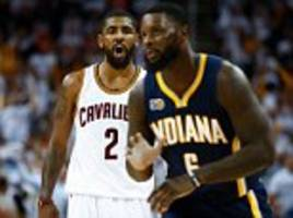 nba playoffs first round: cavaliers 117-111 pacers