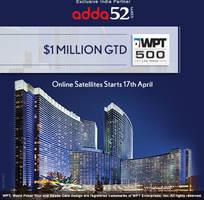 Exclusive Online Qualifiers for WPT500 Las Vegas on Adda52.com