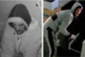 Police want to speak to these two men following a burglary in...