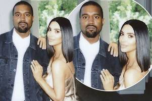 Kim Kardashian and Kanye West fans reckon their loved up Easter pic looks PHOTOSHOPPED after awkward family snap