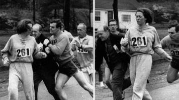 Boston Marathon's first woman Katherine Switzer competes 50 years later