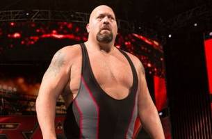 watch as braun strowman and the big show destroy wwe ring