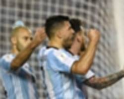 lionel messi, sergio aguero, angel di maria part of argentina team to take on singapore at the national stadium