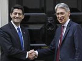 Paul Ryan says US ready to forge trade deal with Britain