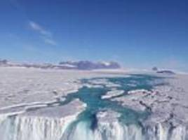 alarming video reveals streams of melted ice in antarctica