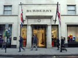 burberry's british shops see 90% more us shoppers