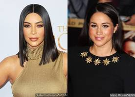 kim kardashian's obsessed with meghan markle: she wants to look more 'meghan-ish'