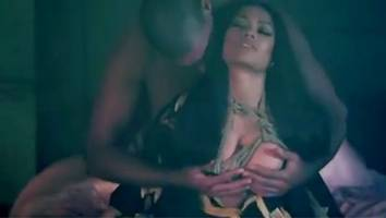 Nicki Minaj Gets Her Breasts Groped by Shirtless Hunk in 'Regret in Your Tears' Video Teaser