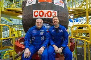 A rare two-person crew will launch to the International Space Station tomorrow morning