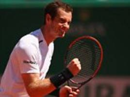 Andy Murray beats Gilles Muller at the Monte Carlo Masters