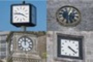 The five broken Plymouth clocks that desperately need fixing