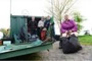 Angling club appeal to the public after firemen cut into storage...