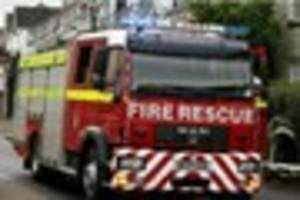 Motorbike found on fire near Frome after crash on A361