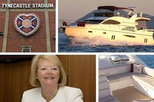 hearts owner ann budge set to auction holiday on her luxury yacht - here's a sneak peek inside stunning vessel