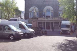 filming for new tv drama gets under way in historic carmarthen building