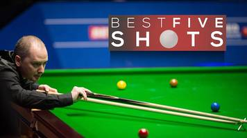 Watch the five best shots as Graeme Dott beats Ali Carter at the World Championship