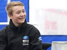 fundraising for motorsport teen backed by lewis hamilton