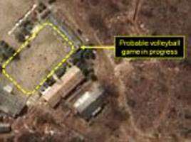 Staff at North Korea's nuke test site play VOLLEYBALL