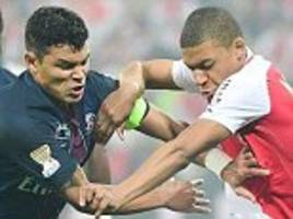 kylian mbappe 'almost cried' after facing thiago silva