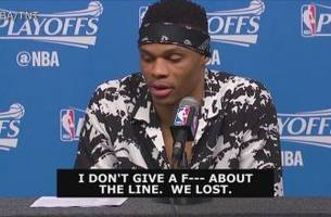 Westbrook on Game 2 stats: 'I don't give a f--- about the line.  We lost'